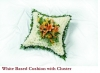 White Based Cushion with Cluster