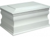 Traditional Casket - White
